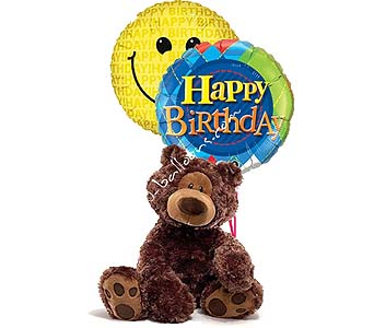Medium Happy Birthday Bear in 1-800 Balloons NV, 1-800 Balloons