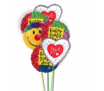Birthday Love and Smile Balloons by 1-800-balloons