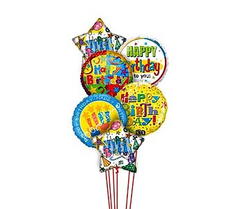Birthday Bonanza Balloons by 1-800-Balloons