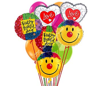 Grand Birthday Love & Smile Balloon Bouquet by 1-800-balloons