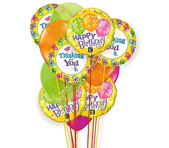 Happy Birthday Thoughts Of Cheer Balloons by 1-800-balloons