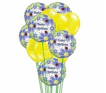 Birthday Brights Balloons by 1-800-balloons