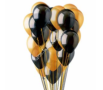 25 Black and Orange Latex Balloons by 1-800-balloons