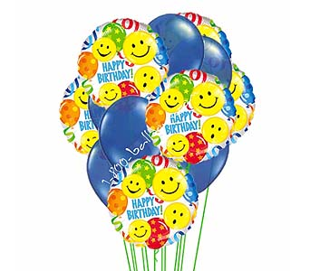 Birthday Blues Balloons by 1-800-balloons