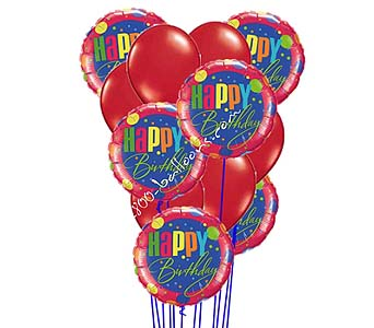 Red Hot Birthday Balloons by 1-800-balloons