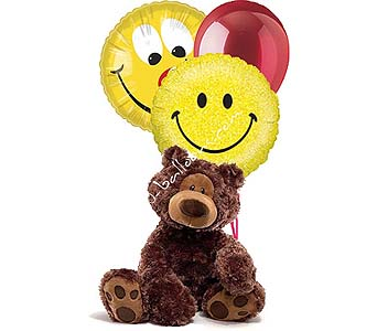 Medium Smiley Bear in 1-800 Balloons NV, 1-800 Balloons