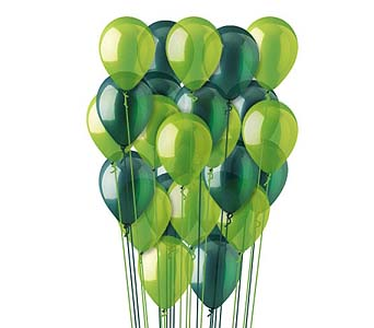 25 Green Latex Balloons by 1-800-balloons