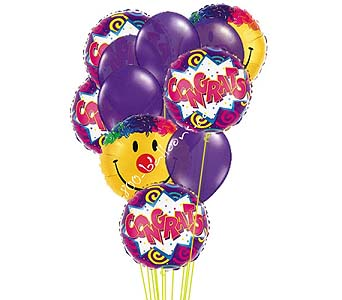 Congratulations And Smiles Balloons by 1-800-balloons