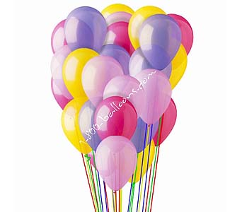 25 Pink, Hot Pink, Lavender & Yellow Latex Balloon by 1-800-balloons