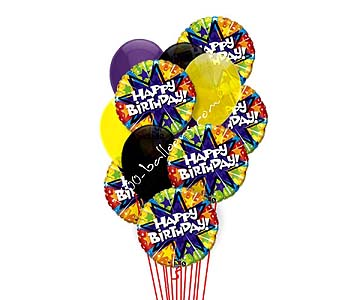 Midnight Star Birthday Balloons by 1-800-balloons