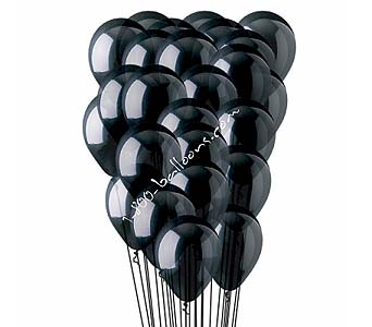 25 Black Latex Balloons by 1-800-balloons