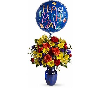 Fly Away Birthday Bouquet by 1-800-balloons