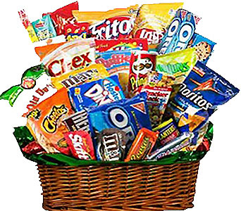 Junk Food Basket by 1-800-balloons