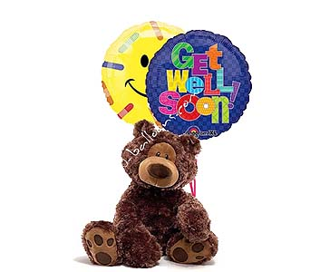 Medium Get Well Teddy Bear by 1-800-balloons