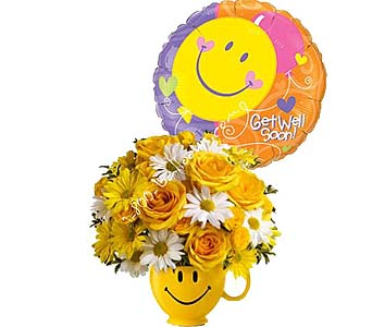 Be Happy DX Get Well Soon by 1-800-balloons