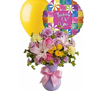 Perfectly Pastel Thinking Of You in 1-800 Balloons NV, 1-800 Balloons