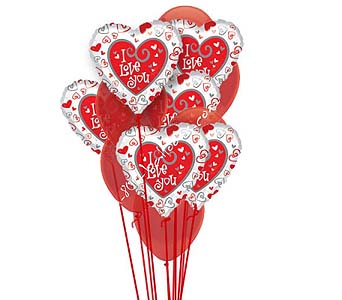 I love You Balloon Bouquet by 1-800-balloons