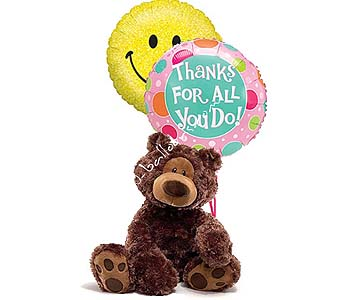 Medium Thank You Bear by 1-800-balloons