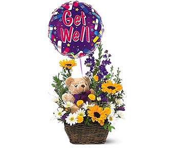Basket And Bear Arrangement in 1-800 Balloons NV, 1-800 Balloons