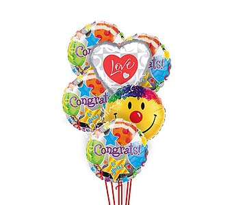 Congratulations Love And Smile Balloons by 1-800-balloons