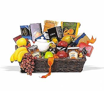 Grande Gourmet Fruit Basket by 1-800-balloons