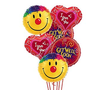 Get Well Love & Smiles Balloon in 1-800 Balloons NV, 1-800 Balloons