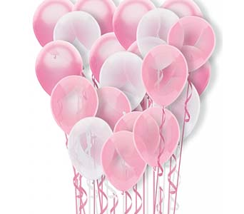25 Pink On Pink Balloons by 1-800-balloons