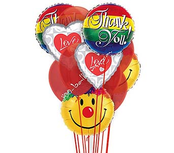 Thank You Love & Smiles Balloons by 1-800-balloons
