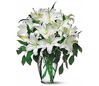 Perfect White Lilies by 1-800-balloons