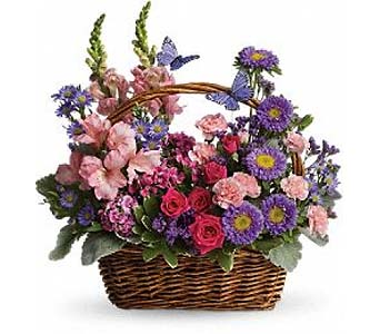Country Basket Blooms by 1-800-balloons