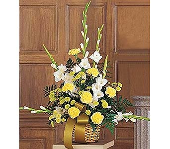 Vibrant Yellow Basket. in 1-800 Balloons NV, 1-800 Balloons