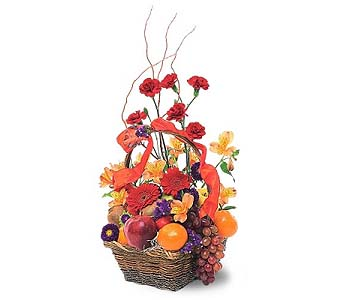 Fruits And Flowers Basket by 1-800-balloons