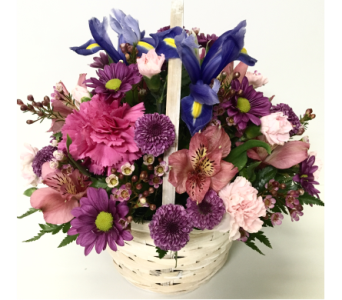 Spring Pastels 6 inch Basket- Designed All-Around in Wyoming MI, Wyoming Stuyvesant Floral