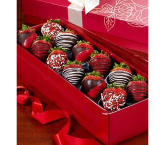 Happy Valentine�s Day Strawberry Rose Box in Homer NY, Arnold's Florist & Greenhouses & Gifts