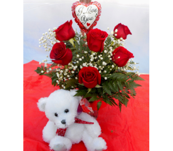 Classic Red Roses Bundle in Skowhegan ME, Boynton's Greenhouses, Inc.