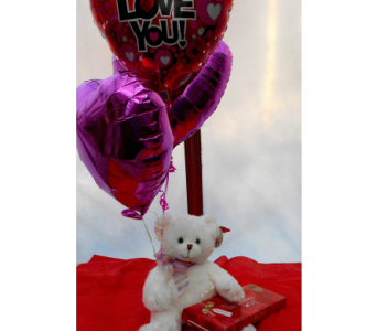 Bear, Balloons & Chocolates in Skowhegan ME, Boynton's Greenhouses, Inc.