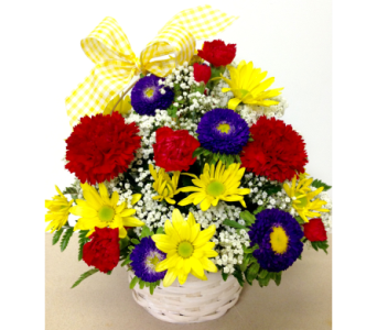 Bright & Petite 6 inch Basket- Designed All-Around in Wyoming MI, Wyoming Stuyvesant Floral