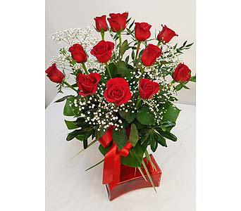 Upgraded Dozen Red Roses in Alliston, New Tecumseth ON, Bern's Flowers & Gifts
