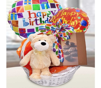 Soft & Sweet Birthday Basket in Indianapolis IN, George Thomas Florist