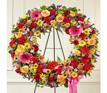 Bright Standing Wreath in Indianapolis IN, George Thomas Florist