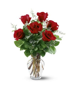 Half Dozen Roses in Nashville TN, Emma's Flowers & Gifts, Inc.