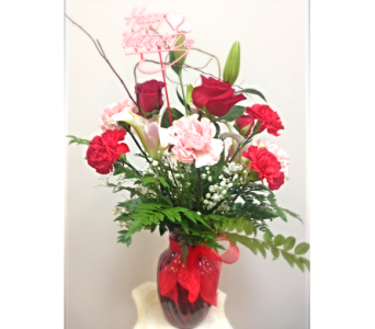 Valentine's Mixed Vase in Cleveland OH, Filer's Florist Greater Cleveland Flower Co.
