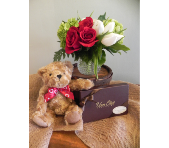 Modern Chic with Chocolate and Bear in Westfield MA, Flowers by Webster