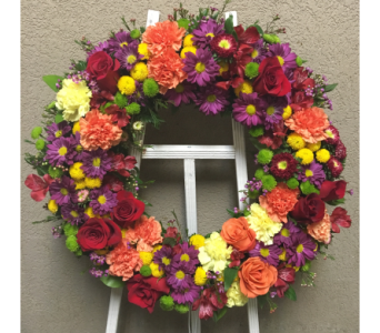 Bright Remembrance Floral Wreath in Wyoming MI, Wyoming Stuyvesant Floral