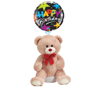 Happy Birthday Bear and Balloon in Princeton, Plainsboro, & Trenton NJ, Monday Morning Flower and Balloon Co.