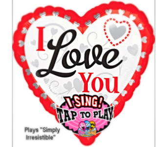 VB109 I Love You Singing Mylar Balloon in Oklahoma City OK, Array of Flowers & Gifts