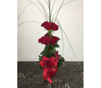 All My Love Red Rose Topiary in Mequon WI, A Floral Affair, Inc