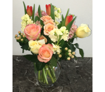 Peaches and Cream in Mequon WI, A Floral Affair, Inc