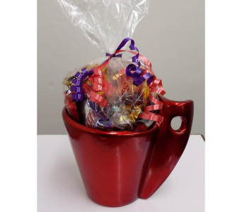 Candy in Mug- Valentine's in Lawrence KS, Owens Flower Shop Inc.