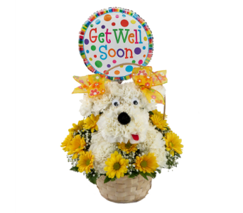 Delightful Doggie Get Well Soon Bouquet in Southfield MI, Thrifty Florist